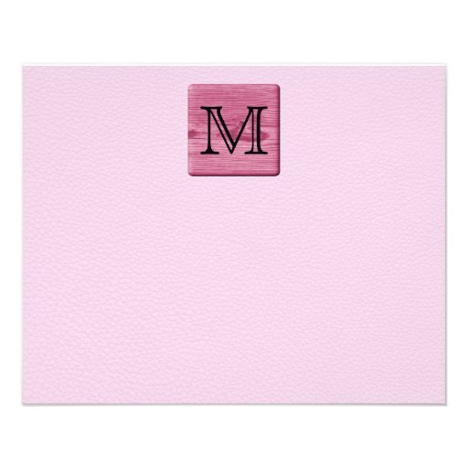 Pink Patterned Image, with Custom Monogram Letter Flyer