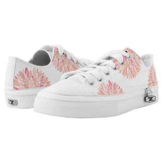 Pink Patterned Petal Flower Low Tops