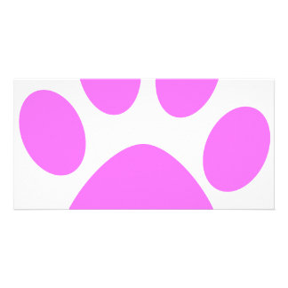 Pink Paw Photo Greeting Card