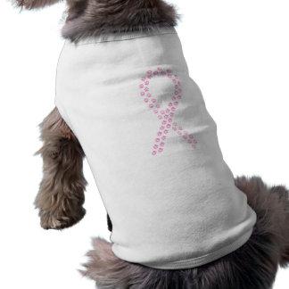 Pink Pawprint Ribbon Shirt