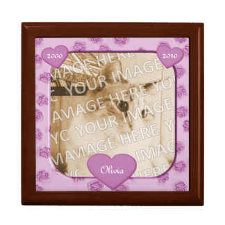 Pink Paws and Hearts Pet Memorial Keepsake Box