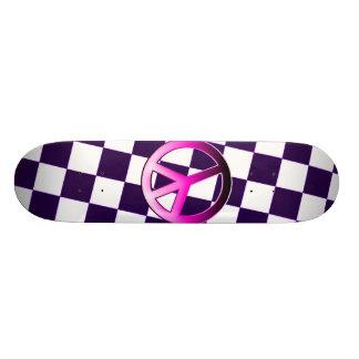 Pink Peace 21.6 Cm Skateboard Deck