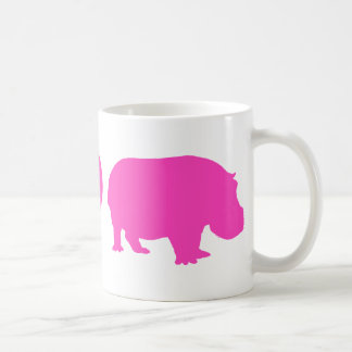 Pink Peace Love and Hippos Coffee Mug