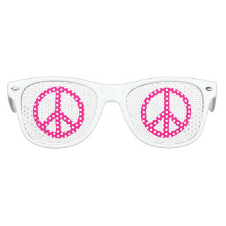 Pink Peace Sign Kids Sunglasses