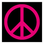 Pink Peace Sign Poster