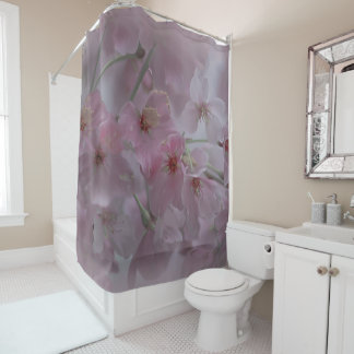 Pink Peach Blossom shower curtain