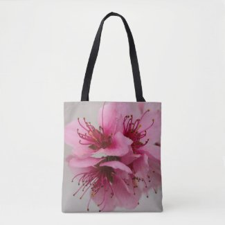 Pink Peach Blossom Tote Bag
