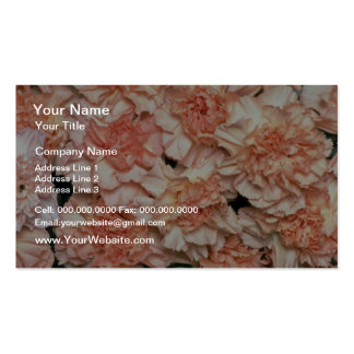 Pink Peach carnations flowers Business Cards