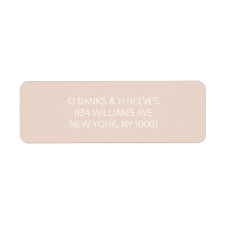 Pink / Peach return address labels