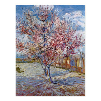 Pink Peach Tree in Blossom by Van Gogh Postcard