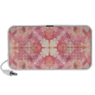 Pink Peach Watercolor Abstract Pattern Mp3 Speakers