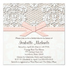 Pink Pearl and Lace Bridal Shower Invitations