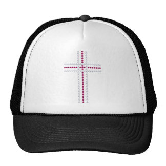 Pink Pearl Cross Trucker Hat
