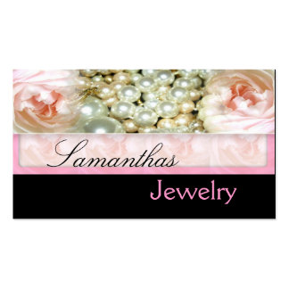 Pink Pearls Jewelry Business Cards