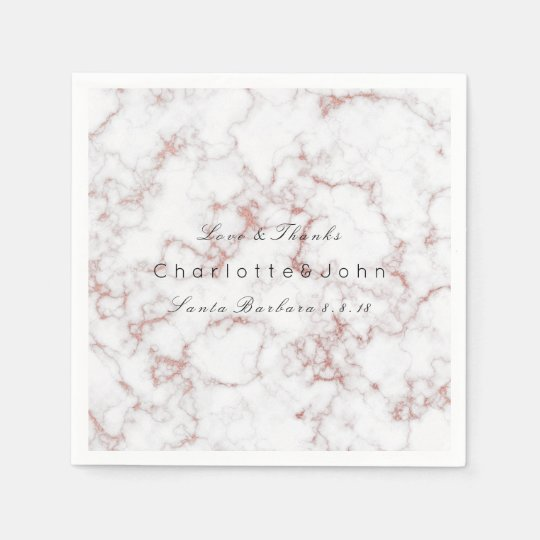 Pink Pearly Rose Gold White Gray Marble Party