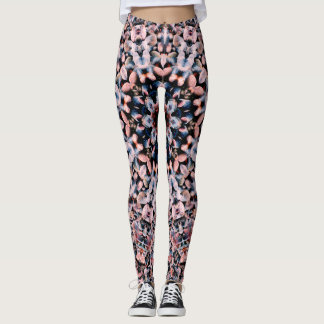 Pink Pebble Beach Mandala Leggings