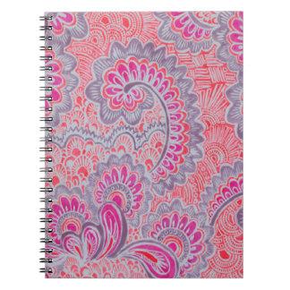 pink pen art design photo notebook