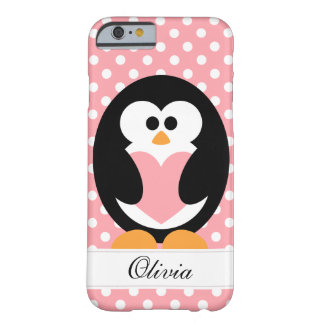 Pink Penguin Love Barely There iPhone 6 Case