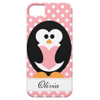Pink Penguin Love iPhone 5 Case