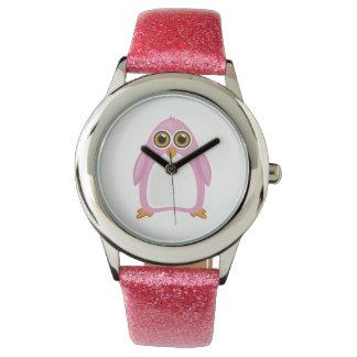 Pink Penguin Watch