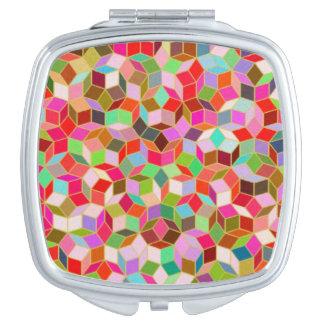 Pink Penrose Tile Compact Mirror