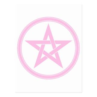 Pink Pentacle Postcard