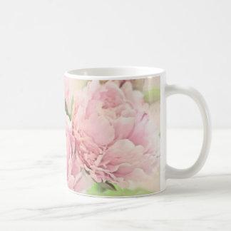 Pink Peonies Basic White Mug