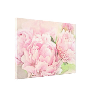 Pink Peonies Gallery Wrap Canvas