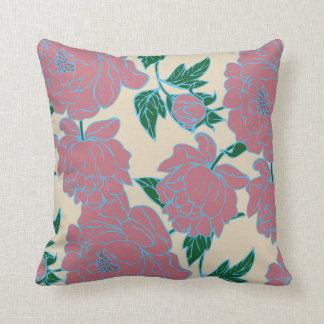 Pink Peonies Cushion