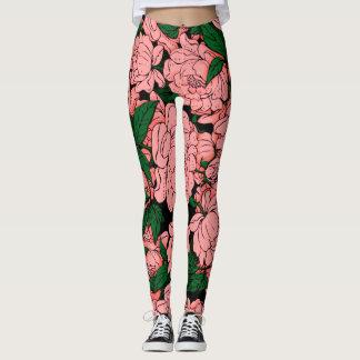 Pink Peonies Leggings