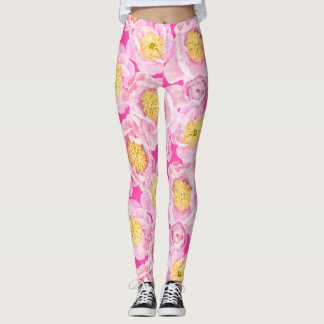 Pink Peonies Leggings
