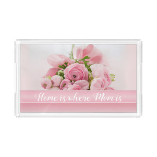 Pink Peonies Mother's Day Serving Tray