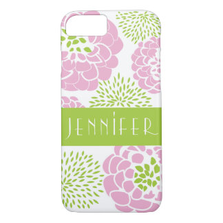 Pink Peonies & Mums Personalized Smartphone Case