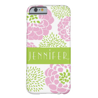 Pink Peonies & Mums Personalized Smartphone Case Barely There iPhone 6 Case