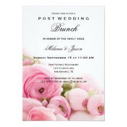 Delicieux Pink Peonies Post Wedding Brunch Invitation ...
