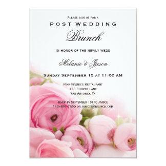 Pink Peonies Post Wedding Brunch Invitation