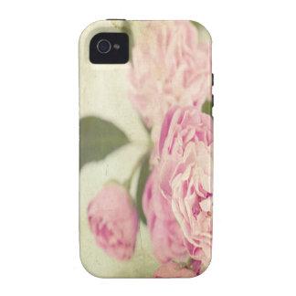 Pink, peonies,vintage,floral,grunge,worn,template, iPhone 4 covers