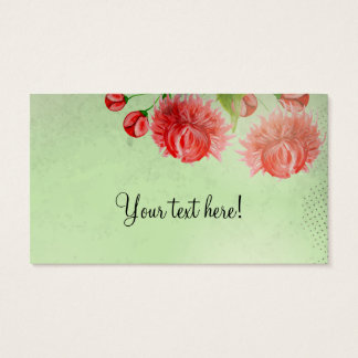 Pink peonies vintage flower design business card