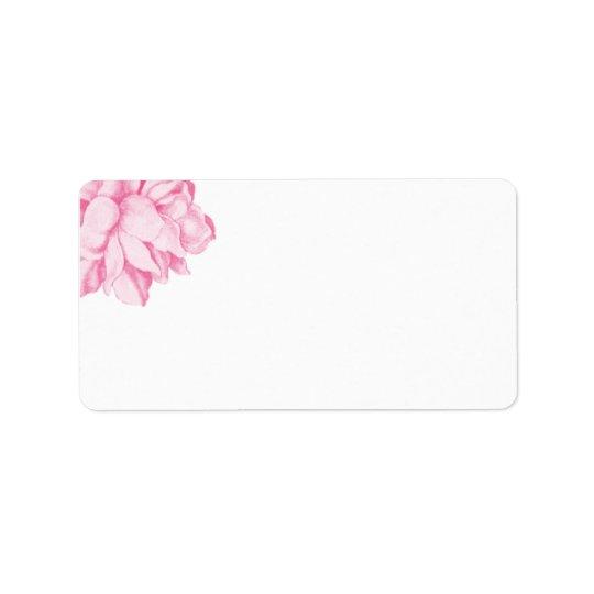Pink Peony Address Label