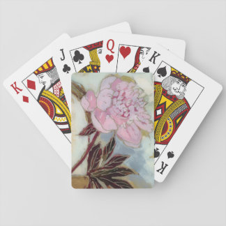 Pink Peony Blossom Playing Cards