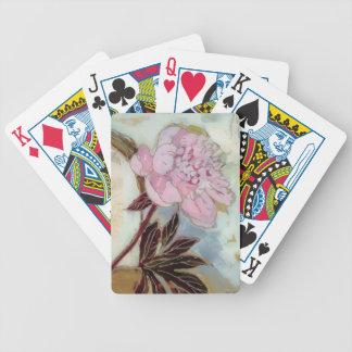 Pink Peony Blossom Poker Deck