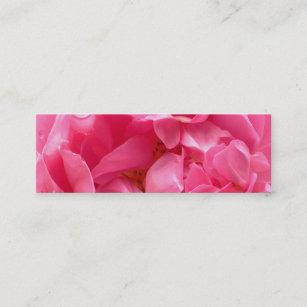 Bookmark business cards zazzle uk pink peony bookmark business card colourmoves