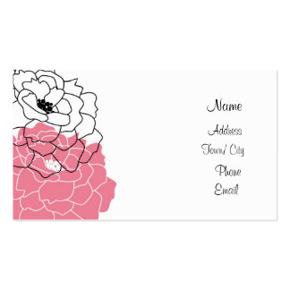 Pink peony business cards