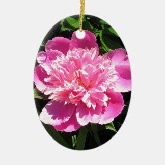 Pink Peony Christmas Ornament