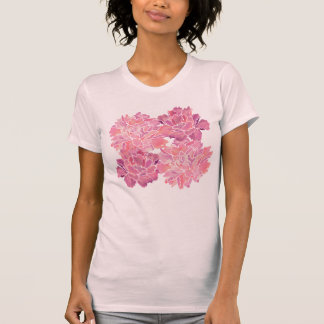 pink peony,cute floral print T-Shirt