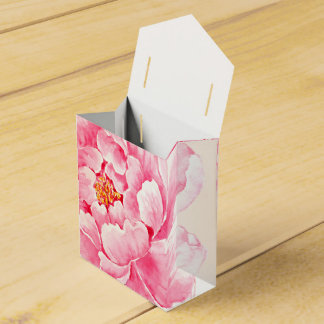 Pink Peony Flower Party Favour Box