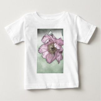 Pink Peony Flower Sketch Baby T-Shirt