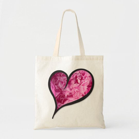 Pink Peony Heart Floral Design