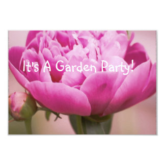 Pink Peony Invitation Card