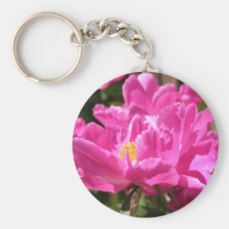 Pink Peony keychain